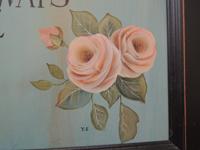 カットの素材画像(挿絵の素材)~薄ピンクの薔薇の花(サイン入り)
